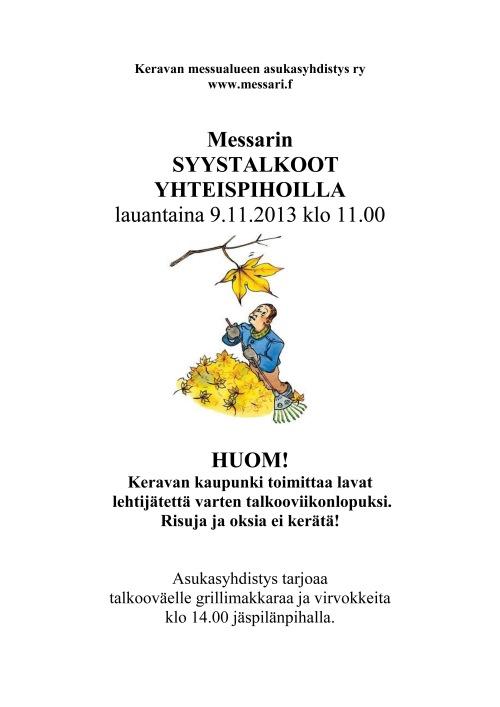 Syystalkoot 2013