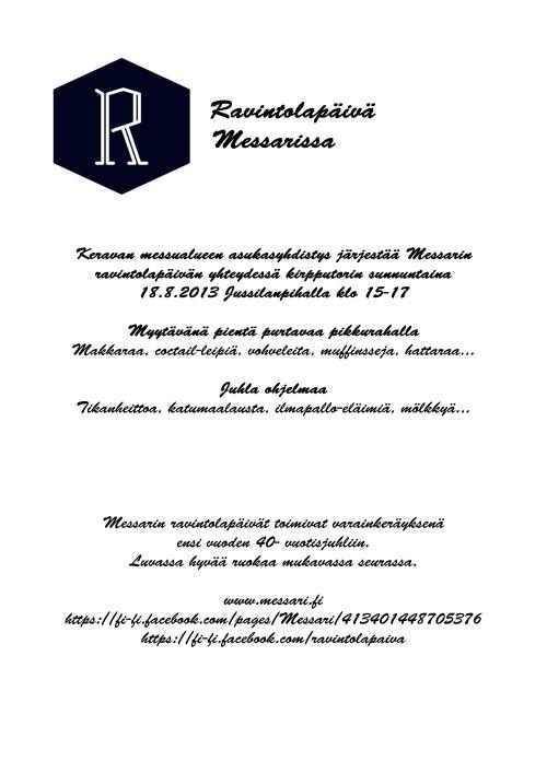 Messarin ravintolapäivä 18.8.2013